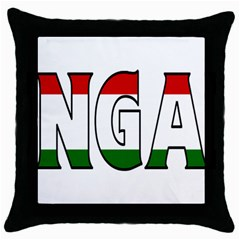 Hungary 3 Black Throw Pillow Case