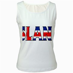Iceland Womens  Tank Top (White)