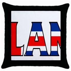 Iceland Black Throw Pillow Case