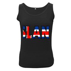 Iceland Womens  Tank Top (Black)