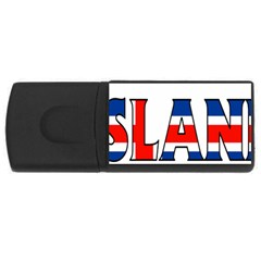 Iceland 4GB USB Flash Drive (Rectangle)
