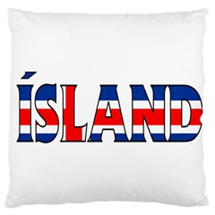 Iceland Large Cushion Case (one Side)