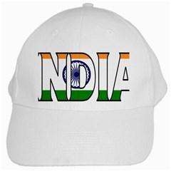 India White Baseball Cap