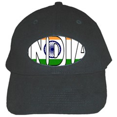India Black Baseball Cap