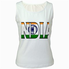 India Womens  Tank Top (white)