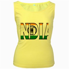 India Womens  Tank Top (yellow)