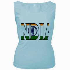 India Womens  Tank Top (Baby Blue)