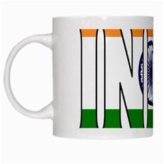 India White Coffee Mug