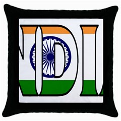 India Black Throw Pillow Case