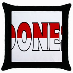 Indonesia Black Throw Pillow Case