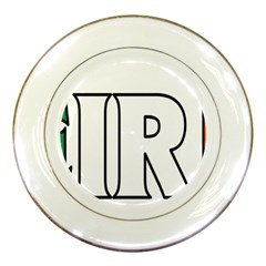 Ireland2 Porcelain Display Plate