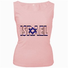 Israel2 Womens  Tank Top (pink)