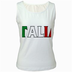 Italy Womens  Tank Top (White)