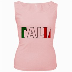 Italy Womens  Tank Top (Pink)