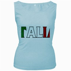Italy Womens  Tank Top (Baby Blue)