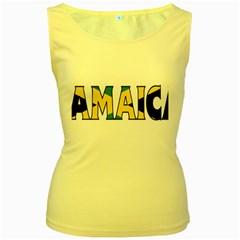 Jamaica Womens  Tank Top (Yellow)