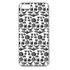 Vintage Bats Apple Seamless iPhone 5 Case (Clear)