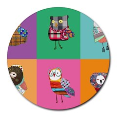 Hipster s Mousepad 8  Mouse Pad (round)