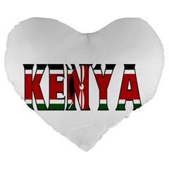 Kenya 19  Premium Heart Shape Cushion