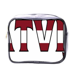 Latvia Mini Travel Toiletry Bag (One Side)