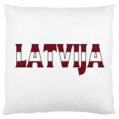 Latvia Large Cushion Case (one Side)