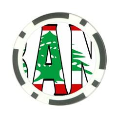 Lebanon Poker Chip