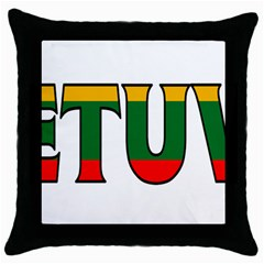 Lithuania Black Throw Pillow Case