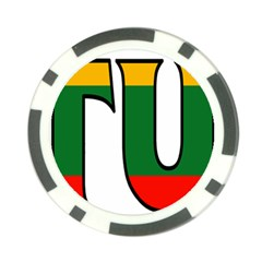Lithuania Poker Chip 10 Pack