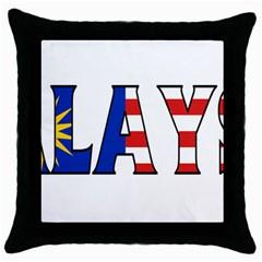 Malaysia Black Throw Pillow Case