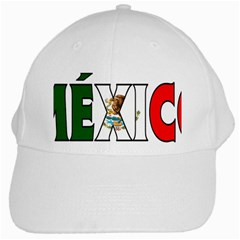 Mexico (n) White Baseball Cap