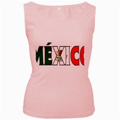 Mexico (n) Womens  Tank Top (pink)