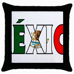 Mexico (n) Black Throw Pillow Case