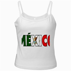 Mexico (n) White Spaghetti Top