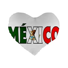 Mexico (n) 16  Premium Heart Shape Cushion