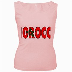 Morocco Womens  Tank Top (Pink)