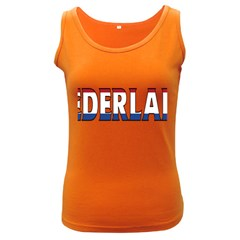 Netherlands Womens  Tank Top (Dark Colored)