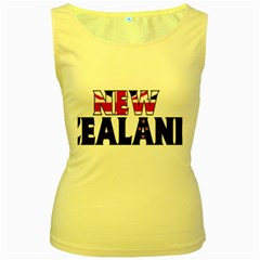 New Zealand Womens  Tank Top (Yellow)