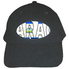 Nicaragua Black Baseball Cap