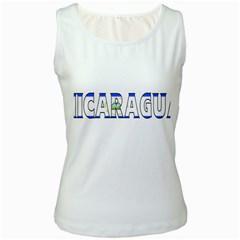 Nicaragua Womens  Tank Top (White)
