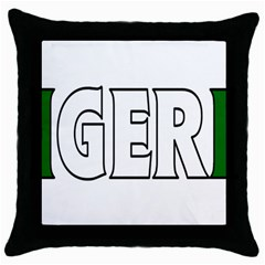 Nigeria Black Throw Pillow Case