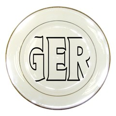 Nigeria Porcelain Display Plate