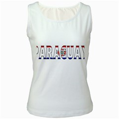 Paraguay Womens  Tank Top (White)
