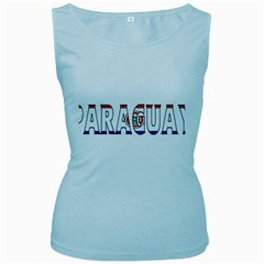 Paraguay Womens  Tank Top (Baby Blue)