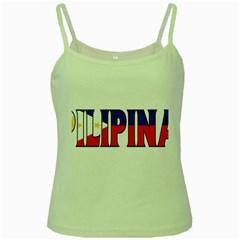 Phillipines2 Green Spaghetti Tank