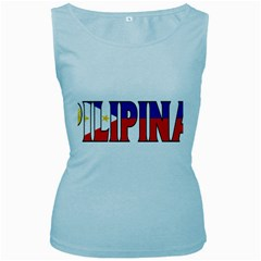Phillipines2 Womens  Tank Top (baby Blue)