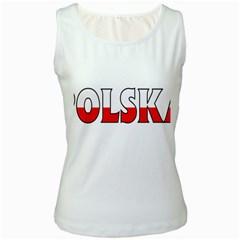 Poland2 Womens  Tank Top (White)
