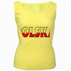Poland2 Womens  Tank Top (yellow)