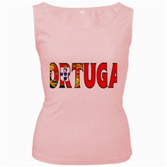 Portugal2 Womens  Tank Top (Pink)