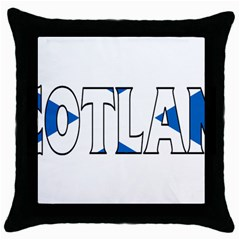 Scotland Black Throw Pillow Case
