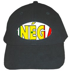 Senegal Black Baseball Cap